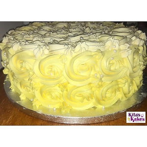 A yellow cake for a beautiful sunny day