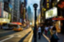 photographie urbaine : coucher de soleil dans les rues de New York