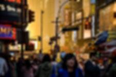 photographie urbaine : un coucher de soleil à New york
