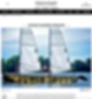 article de journal avec une photo d'un bateau sur l'eau
