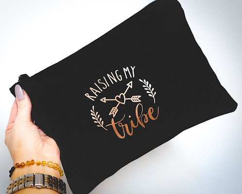 Raising Your Tribe Clutch Bag