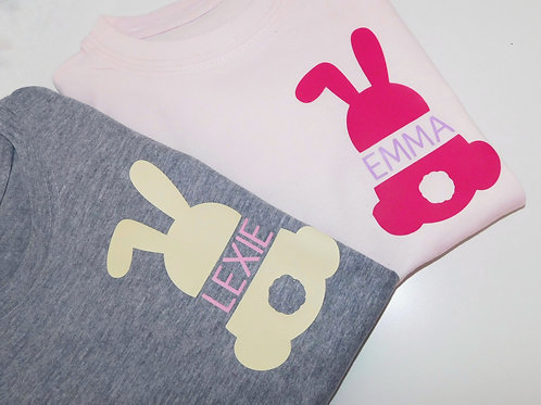 Customised Easter Bunny T Shirt