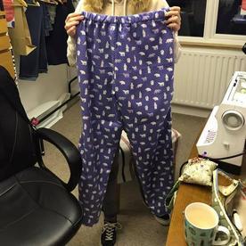 Rosalyn has made some Pyjama bottoms