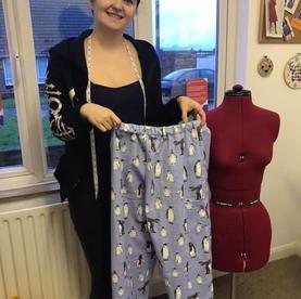 Kitty has made some Pyjama bottoms