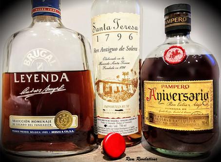 Going Spanish Style! Rum? Brugal Leyenda - Santa Teresa 1796 - Pampero Aniversario Review