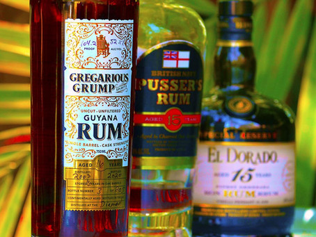 Steve's Rum Ruminations - El Dorado 15 vs Pusser's 15 vs Gregarious Grump Guyana 16