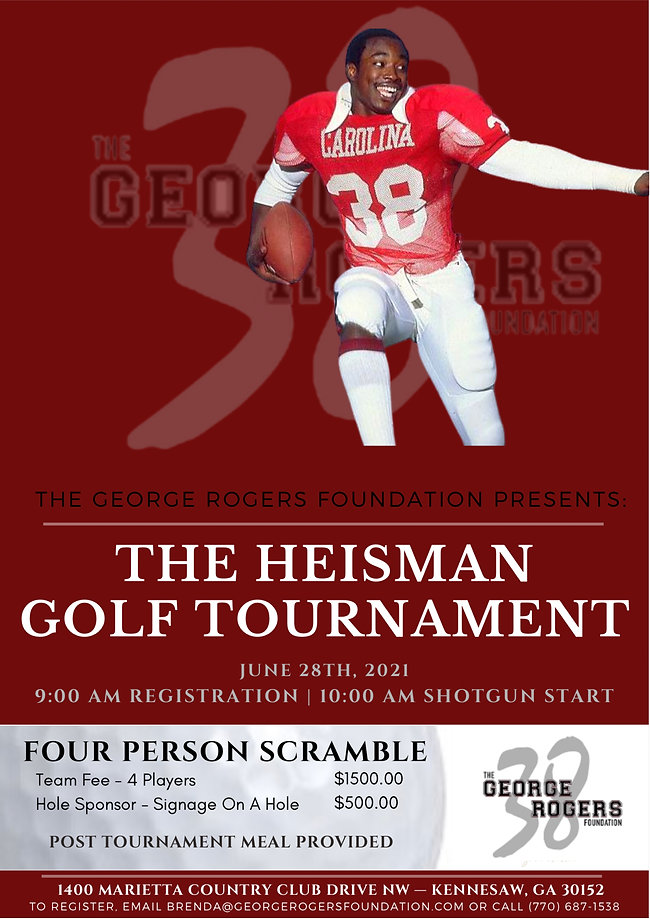 George Rogers Foundation 2021 Golf Tournament Flyer