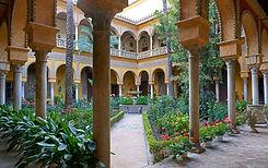 arquitetura, renacimiento, gótico, mudéjar, jardines, botánica, arco, azulejos