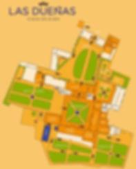 Mapa visita recorrido Dueñas
