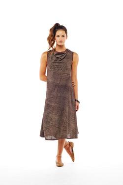 sleeveless bias cowl dress