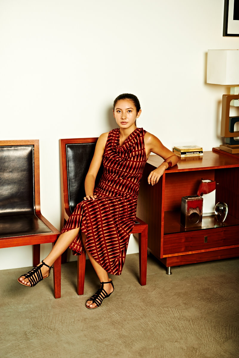 bias cowl dress sleeveless