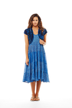 bolero + tier dress
