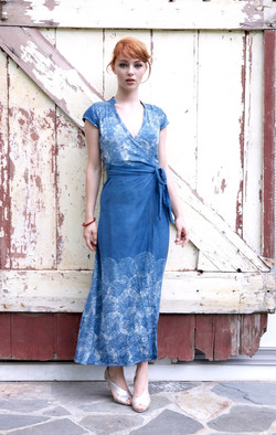nehru wrap dress  maxi