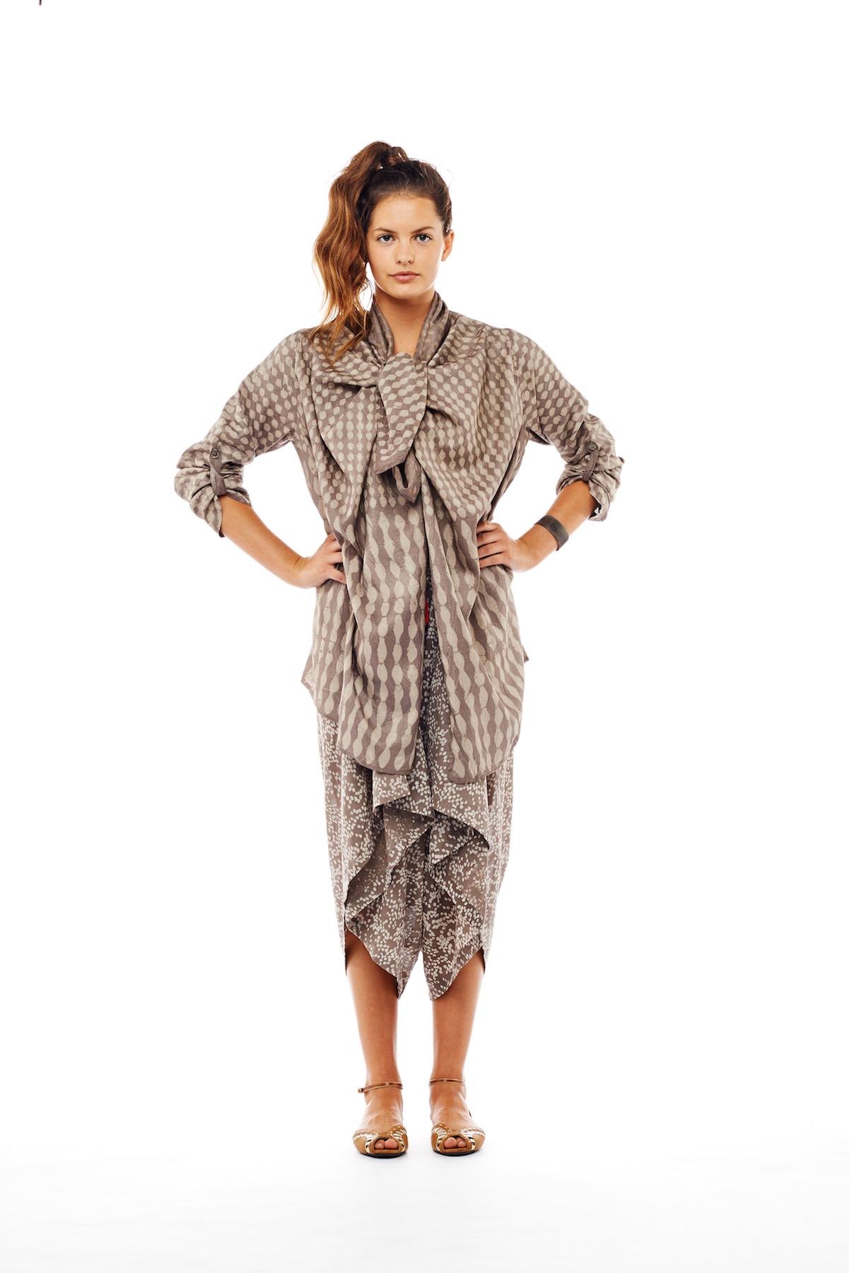drape jacket + montauk jumper