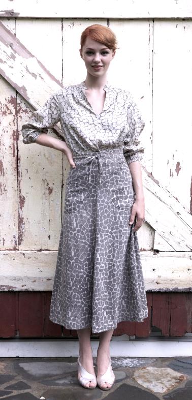 drawstring kurti + 2 pocket skirt