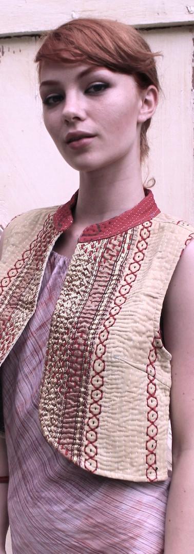 crop vest reversible - xs