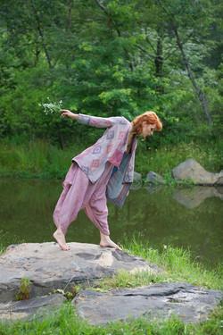 kantha kimono short coat + jumper