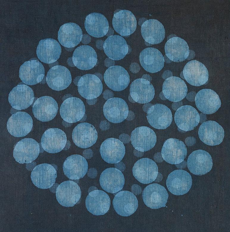 blockprinted indigo handspun handwoven textile art