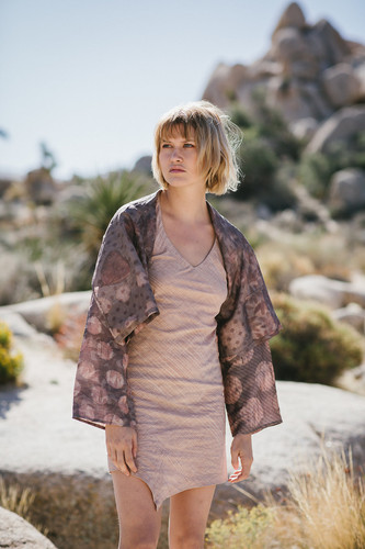 Tibet jacket silk + shift dress