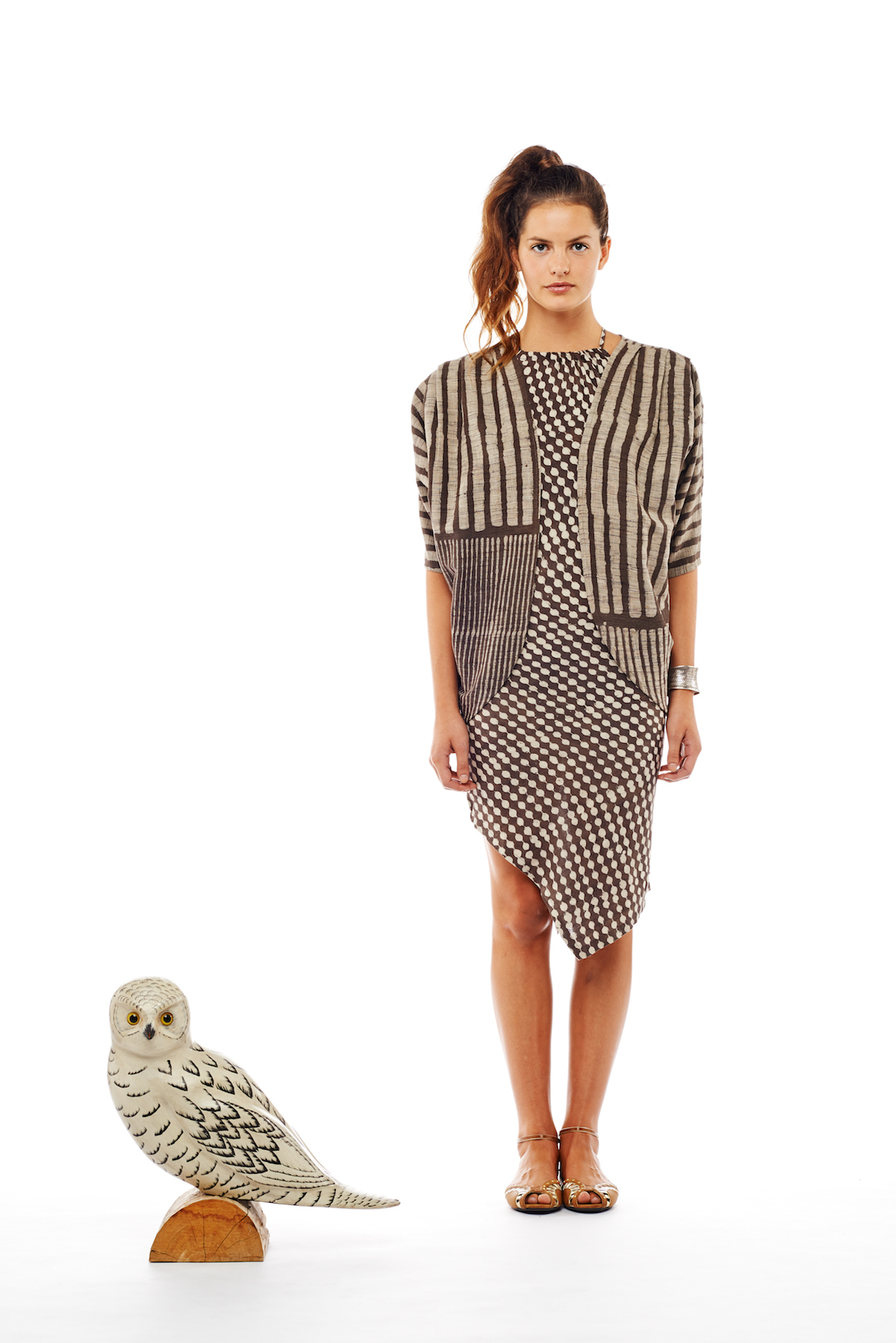cocoon jacket + halter dress