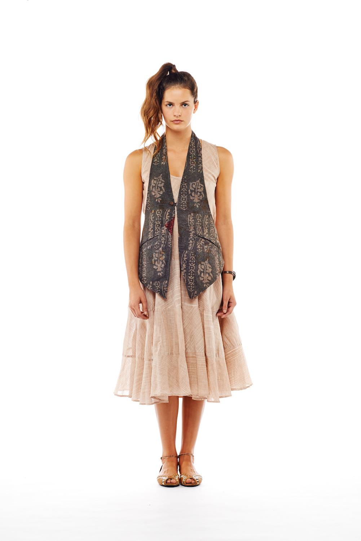 tux vest + tier dress