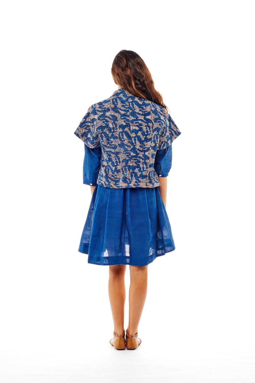 tokyo jacket + pleat tunic / back