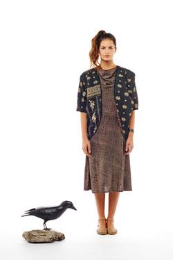 cocoon jacket + bias cowl dress
