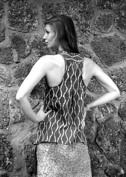 2 layer cowl tunic / back