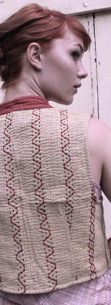 crop vest reversible - back s