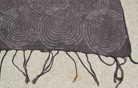 MUDRESIST PAREO - spiral, natural dye