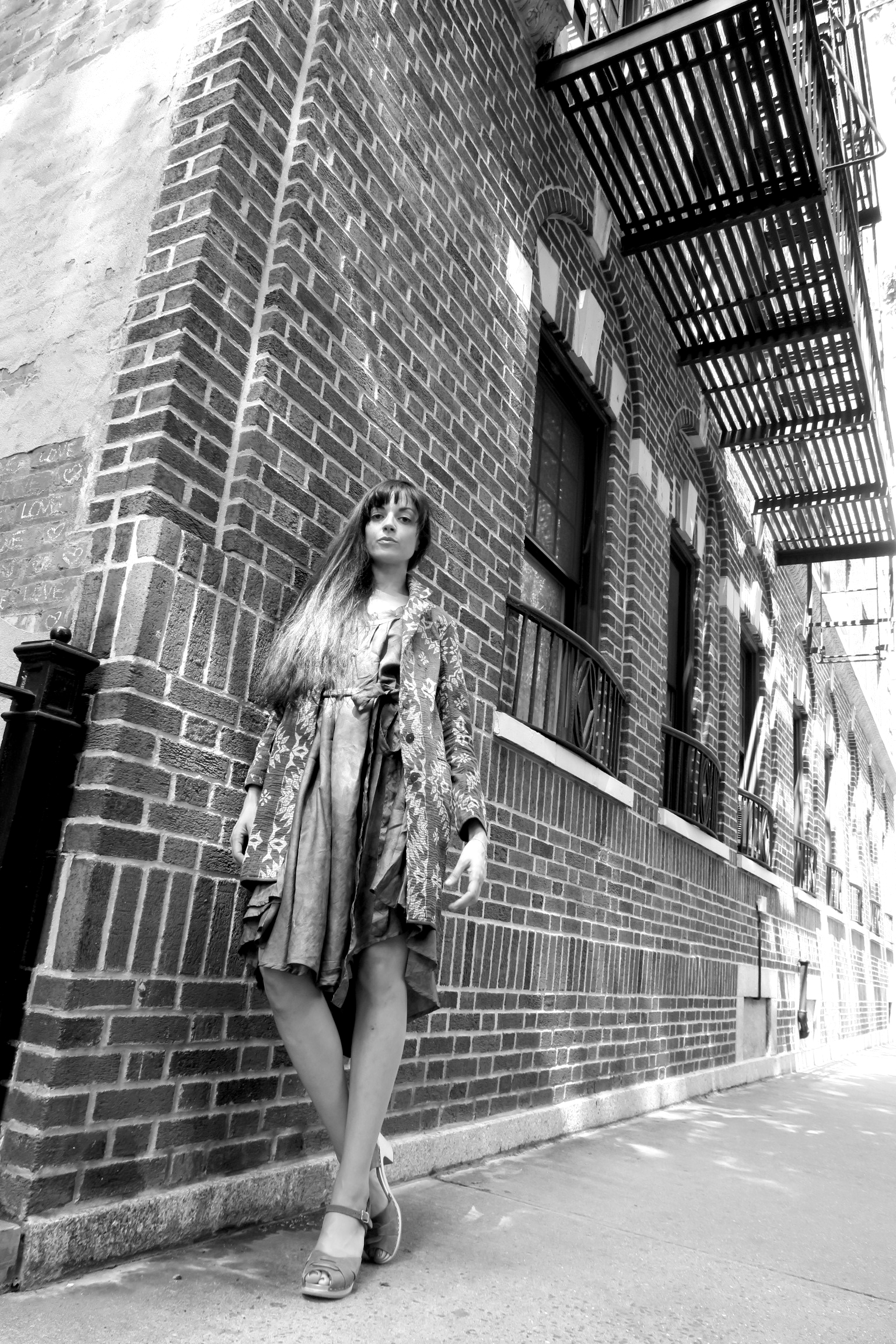 classic coat  + full circle dress