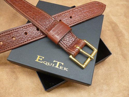 Dark Tan Italian Leather Celtic Belt 38mm