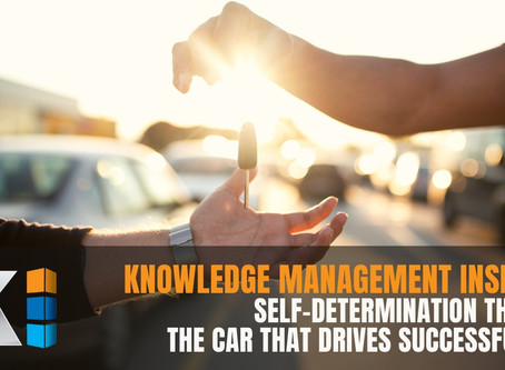 Knowledge Management Insights | Self-Determination Theory: the CAR that drives successful KM
