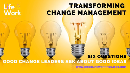 Six questions good change leaders ask about good ideas