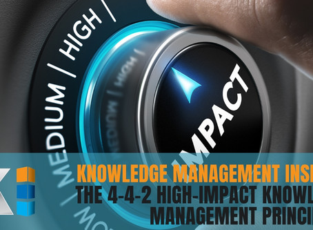 Knowledge management Insights: The 4-4-2 High-Impact Knowledge Management principles