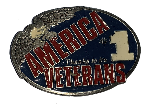 Veterans Belt Buckle EB2402