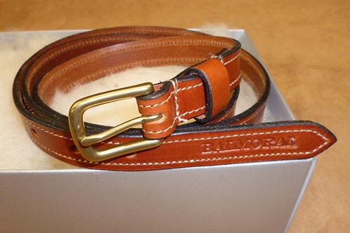 Tan Brown Real Leather Belt By Equitek