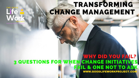 Why did you fail? 3 questions for when change initiatives fail & one not to ask