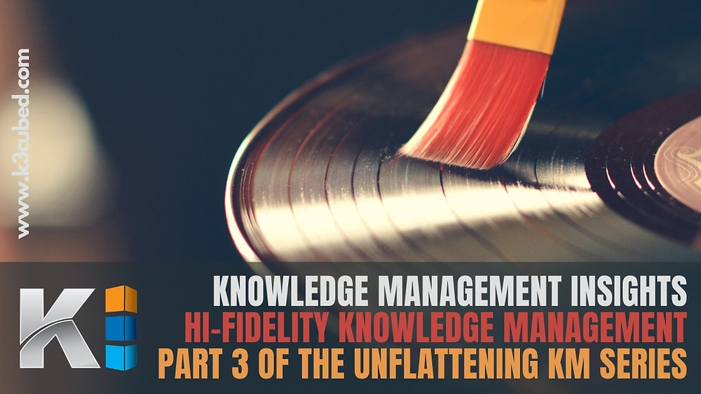 Hi-Fidelity Knowledge Management