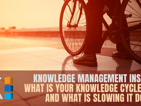 What is your Knowledge Cycle Time, and what is slowing it down?