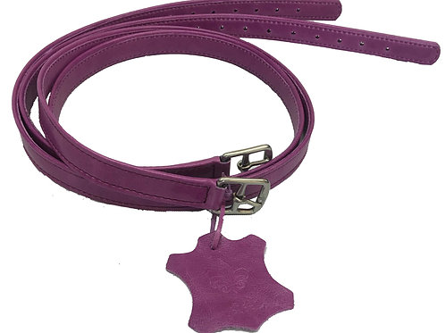 stirrup Leathers Calf Covered Purple