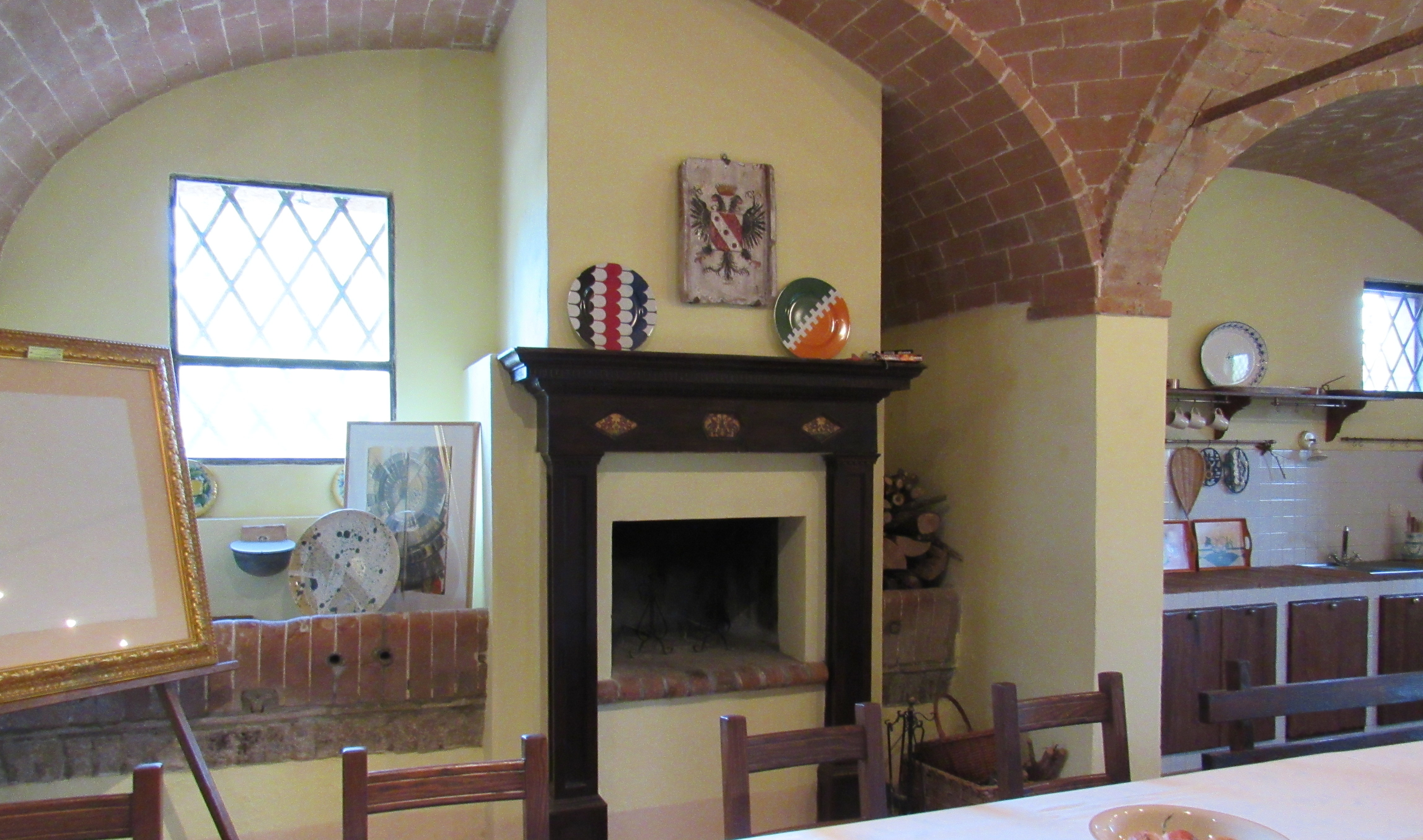 9. Common Room, Rustic Fireplace
