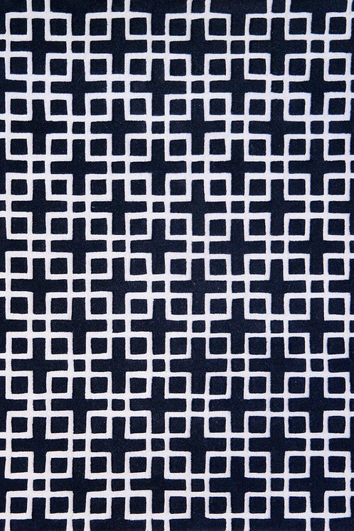 Handtufted in wool and viscose with a High & low 3D pile effect
