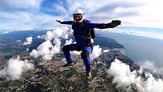 Skydiver Flying Head-up over Algarve – Sit-fly Jump in Algarve - Learn Skydive freeflying in Algarve – The Skydiving Therapist – Skydive Freefly Coach in Portugal – Skydive Coach in the Algarve – Sit-flying – FF1 Sticker