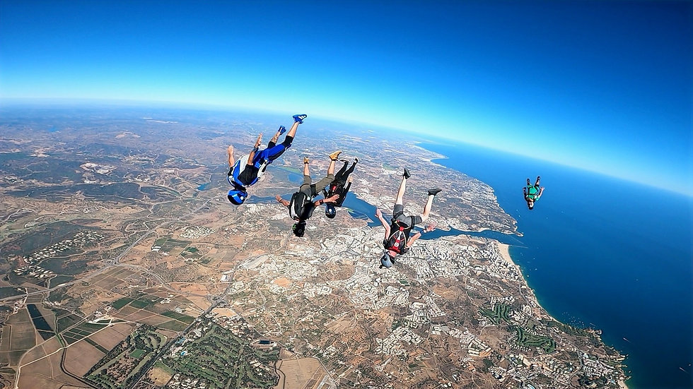 Tracking Jump over Algarve – Angle Jump in Algarve - Learn Skydive Tracking in Algarve – The Skydiving Therapist – Tracking coach in Portugal – Skydive Coach in the Algarve – TR1 Sticker