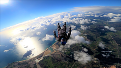 Skydiver performing a Back Tracking - Tracking Jump over Algarve – Angle Jump in Algarve - Learn Skydive Tracking in Algarve – The Skydiving Therapist – Skydive Tracking Coach in Portugal – Skydive Coach in the Algarve – TR2 Sticker