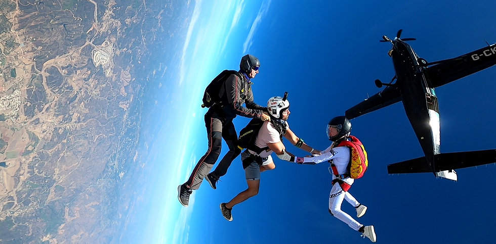 3-way head-down exit in Algarve – Freefly in Algarve - Learn SkydiveFreeflying in Algarve – The Skydiving Therapist – Freefly coach in Portugal – Skydive Coach in the Algarve