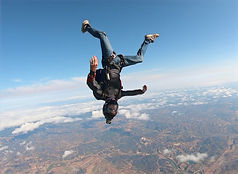 Skydiver Flying Head-down over Algarve – Head-down Jump in Algarve - Learn Skydive Head-down in Algarve – The Skydiving Therapist – Skydive Freefly Coach in Portugal – Skydive Coach in the Algarve – Head-down – FF2 Sticker