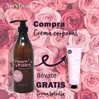 Crema Avry cuerpo y pies Agua de Rosas