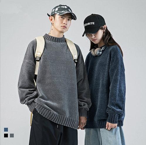 【受注販売】ゆったり 無地 セーター